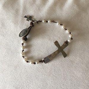 Jewelry - NWOT boho cross bracelet